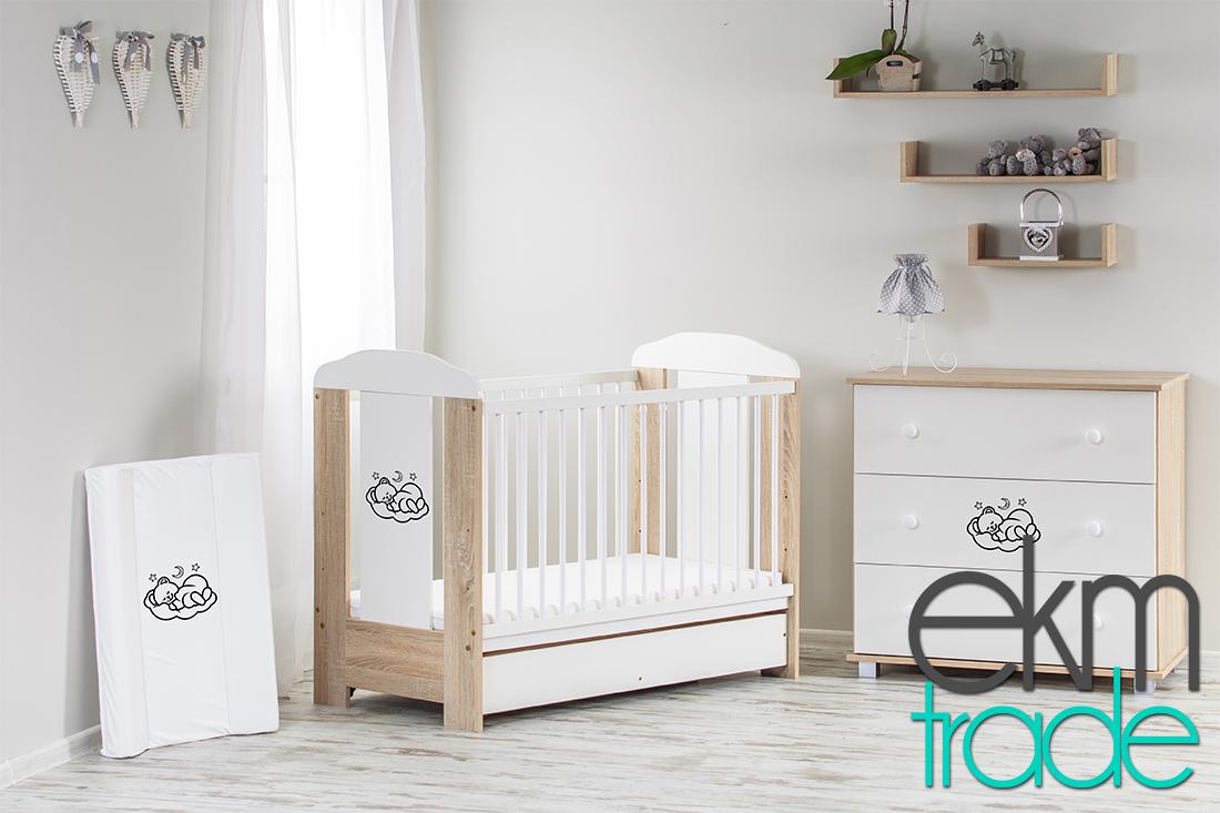 beige sonoma kinderbett 120 x 60 cm mit schublade und matratze ekmtrade. Black Bedroom Furniture Sets. Home Design Ideas