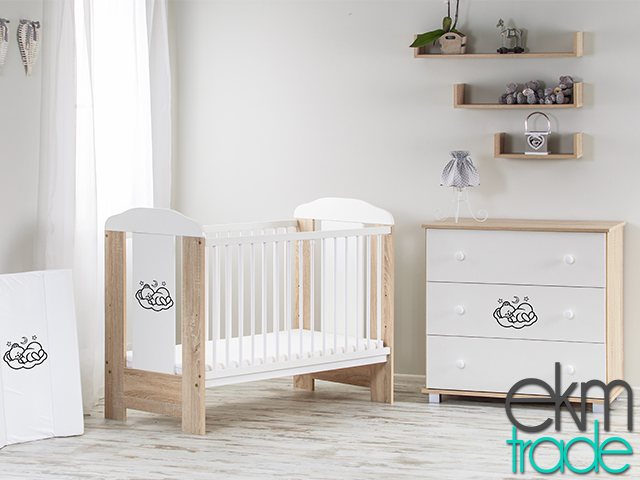 beige sonoma kinderbett 120 x 60 cm ekmtrade. Black Bedroom Furniture Sets. Home Design Ideas