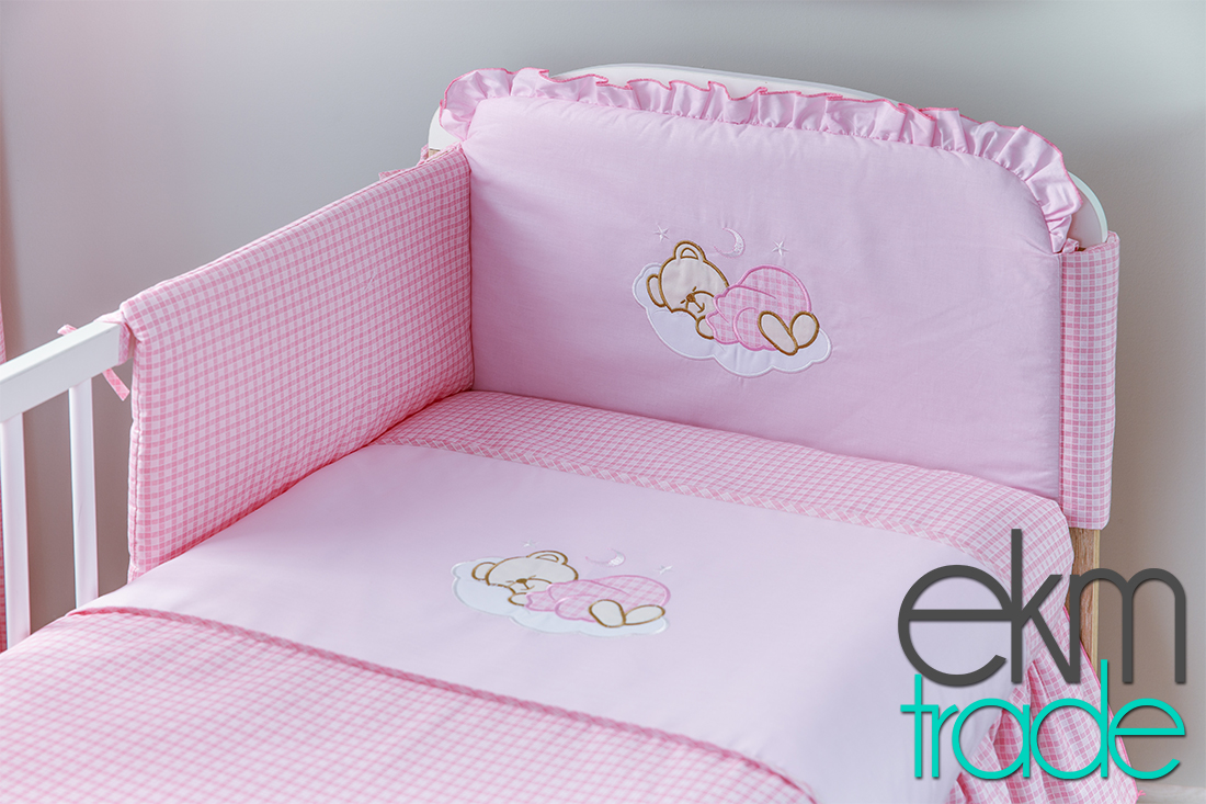 20 teilig baby bettset bettw sche pink ekmtrade. Black Bedroom Furniture Sets. Home Design Ideas