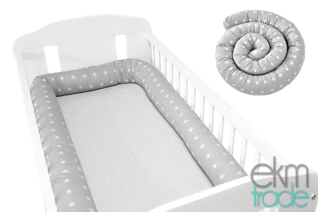 155cm Bettschlange Bettumrandung Nestchen Schlange Handmade 100% Baumwolle W1