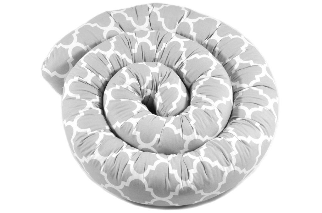 155cm Bettschlange Bettumrandung Nestchen Schlange Handmade 100% Baumwolle W23