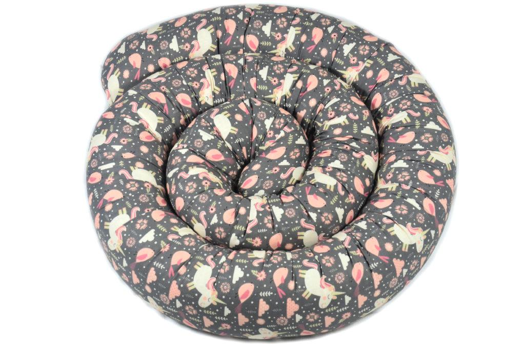 300cm Bettschlange Bettumrandung Nestchen Schlange Handmade 100% Baumwolle ÖKO-TEX W34