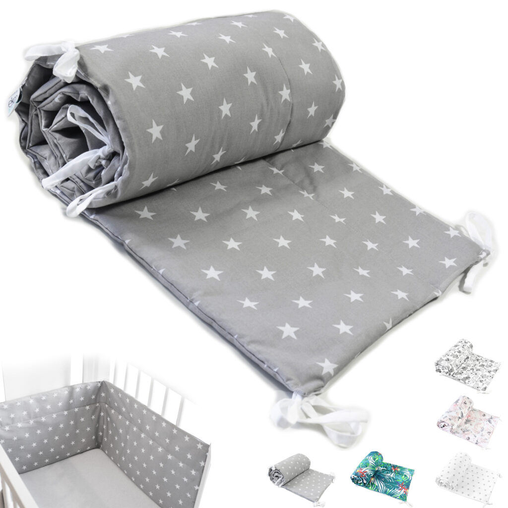 Bettumrandung Kopfschutz Nestchen für Babybett Handmade 100% Baumwolle 420cm – W1