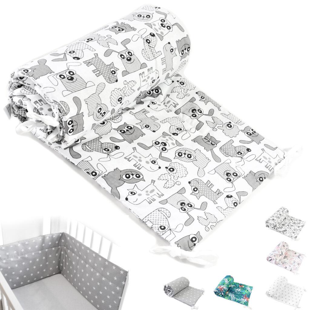 Bettumrandung Kopfschutz Nestchen für Babybett Handmade 100% Baumwolle 420cm – W31