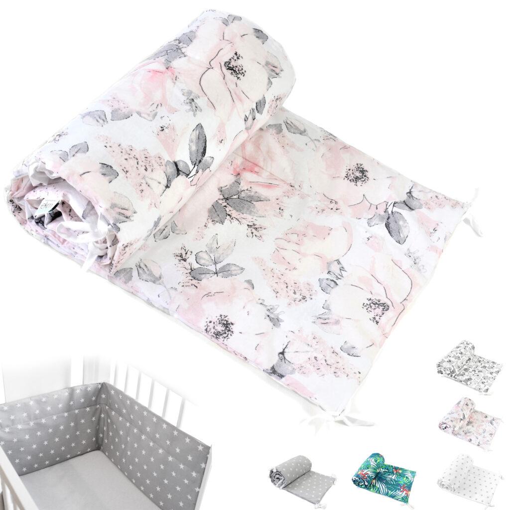 Bettumrandung Kopfschutz Nestchen für Babybett Handmade 100% Baumwolle 420cm – W33