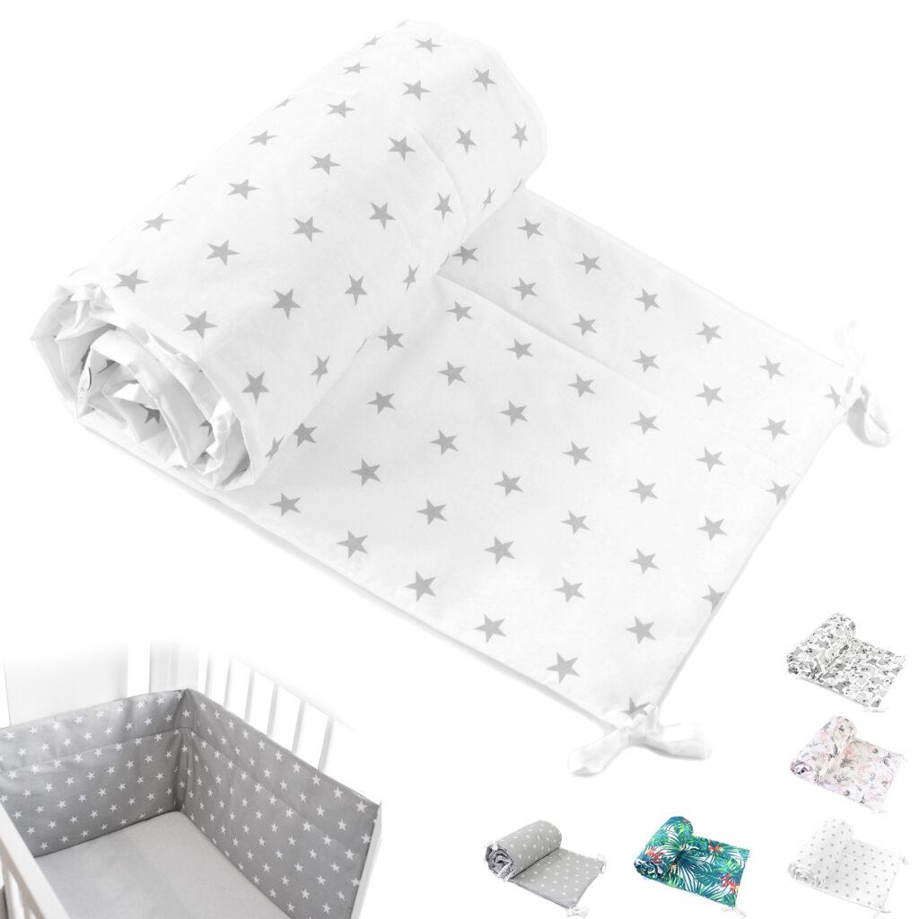 Bettumrandung Kopfschutz Nestchen für Babybett Handmade 100% Baumwolle 420cm – W4