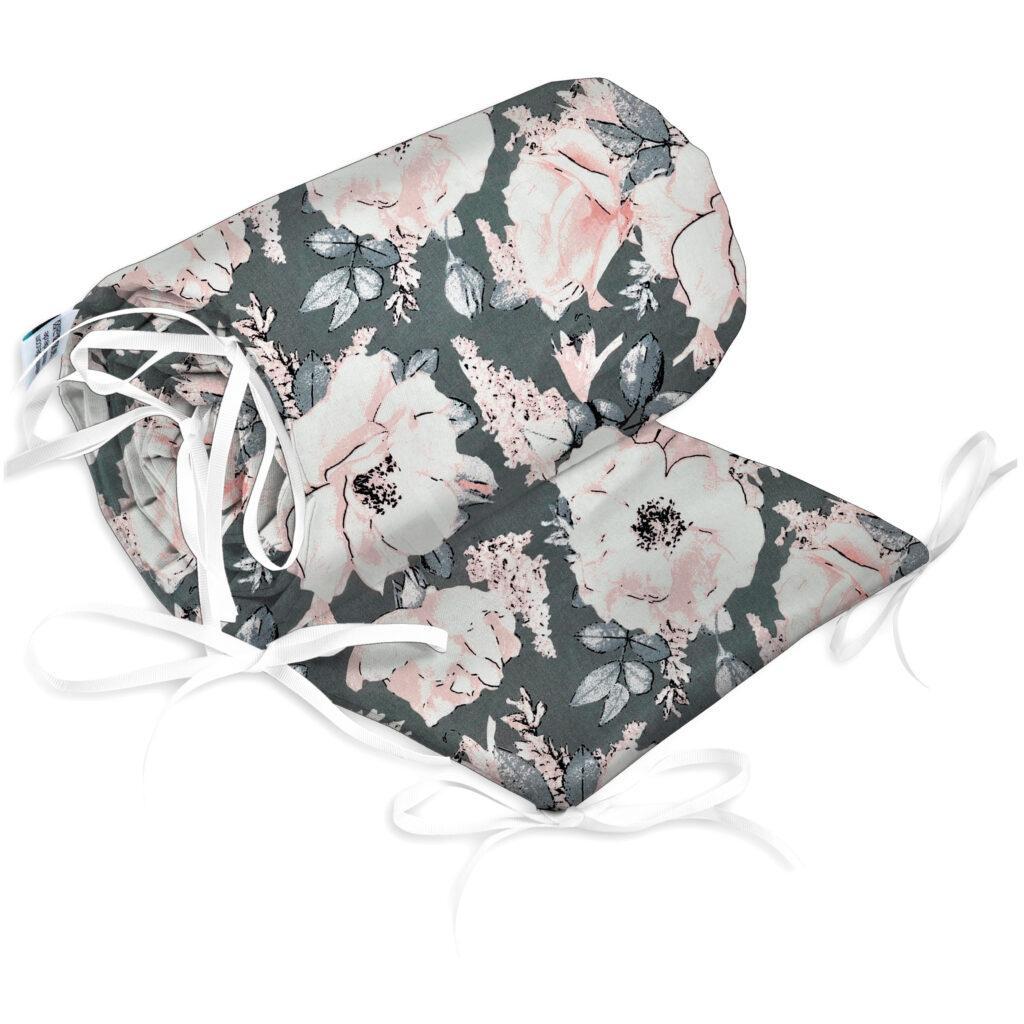 Bettumrandung Kopfschutz Nestchen für Babybett Handmade 100% Baumwolle 180cm – W41