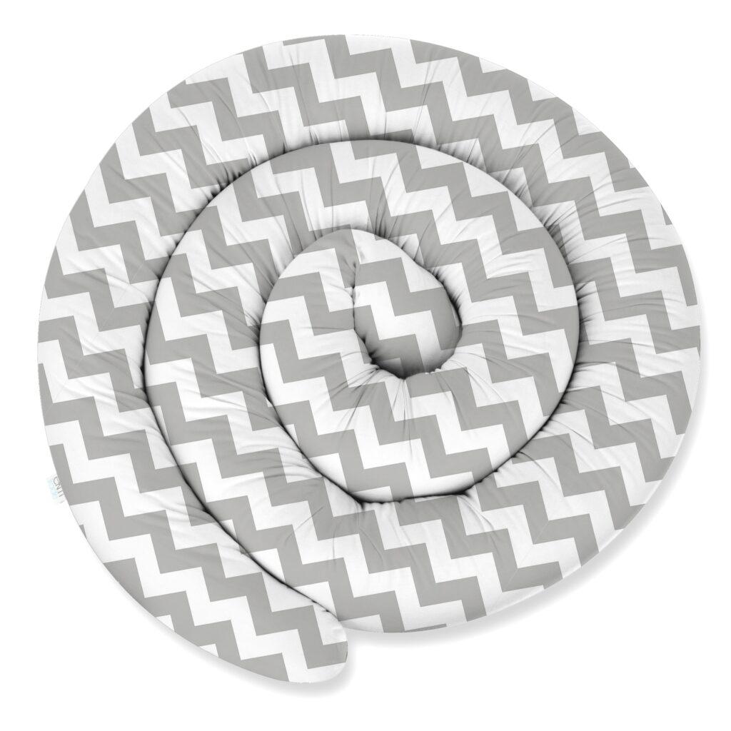 155cm Bettschlange Bettumrandung Nestchen Schlange Handmade 100% Baumwolle W10