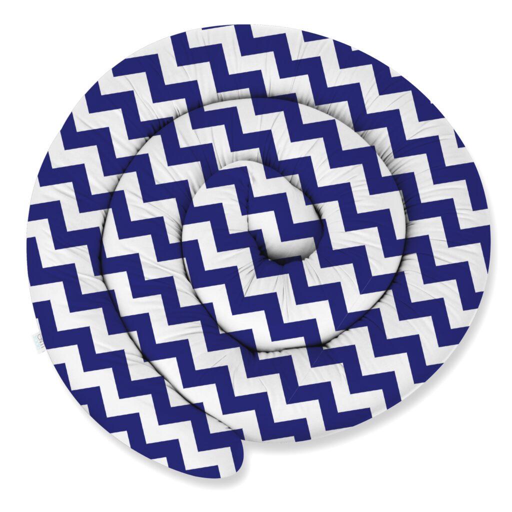 155cm Bettschlange Bettumrandung Nestchen Schlange Handmade 100% Baumwolle W15